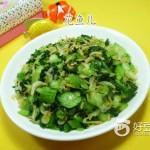 虾皮炒手捏菜
