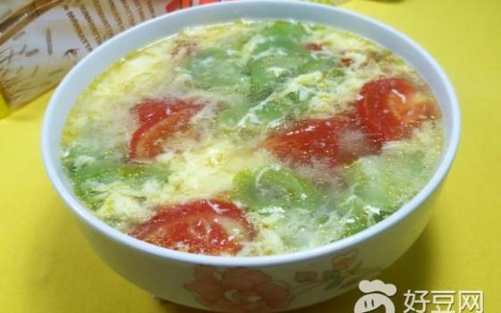 西红柿丝瓜蛋花汤
