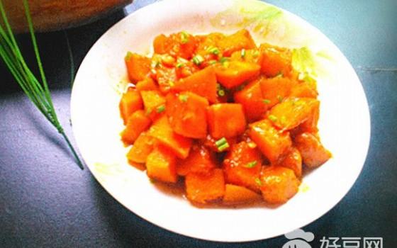 红烧葱香南瓜