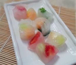 水果彩色冰块
