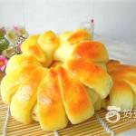 苹果花朵面包