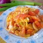 西红柿火腿炒蛋