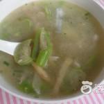 丝瓜榨菜肉丝汤