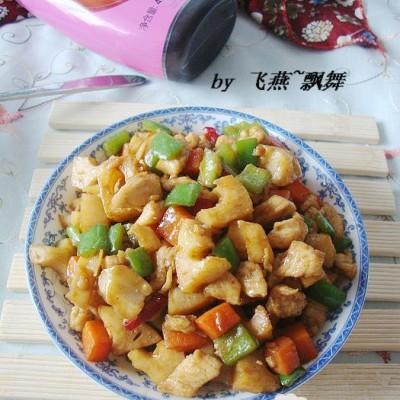 杂蔬炒鸡肉丁
