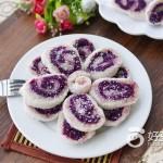 椰香紫薯卷