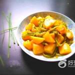 空心菜梗炒土豆