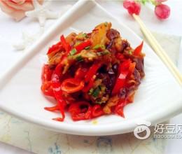 茄子炒红椒