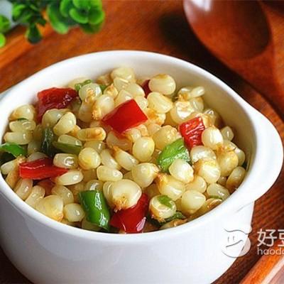 玉米粒炒双椒