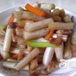 五花肉炒藕帶