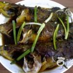 紫苏蒸黄颡鱼