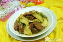 茭白炒鹅肝