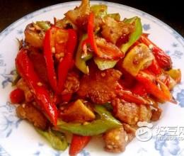辣椒豆豉炒猪油渣