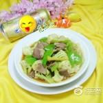 青椒猪舌头炒花菜