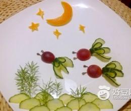 月色鱼塘水果拼盘