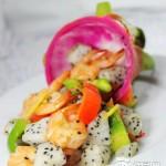 火龙果炒虾