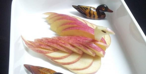 天鹅苹果 水果拼盘