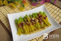 白灼黄花菜