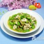 榨菜蘑菇炒蚕豆