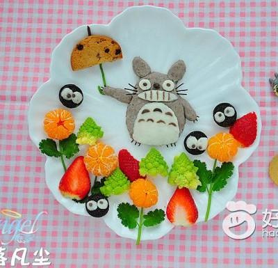龙猫甜品盘(水果拼盘)