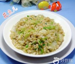 香葱白菜炒饭