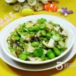 雪菜笋尖炒蚕豆