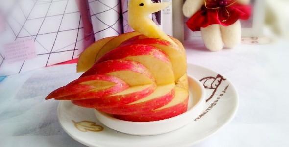 手工苹果小天鹅 水果拼盘