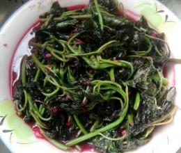 小炒红苋菜