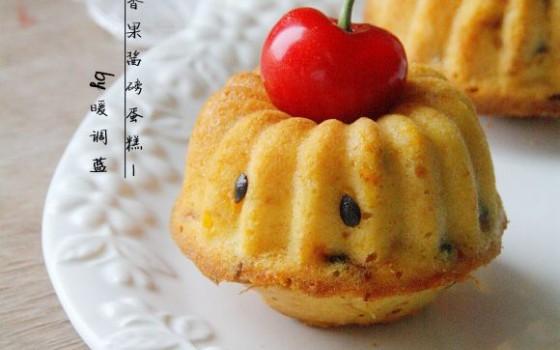 百香果酱磅蛋糕