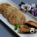 糯米土豆黑芝麻饼