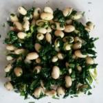芹菜叶拌黄豆
