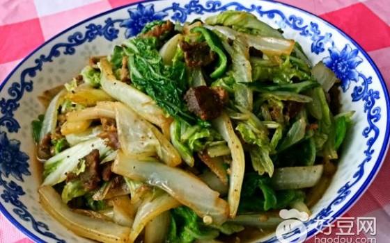 大白菜炒牛肉