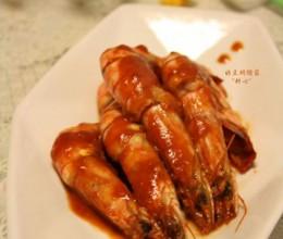 原味番茄汁炒九节虾