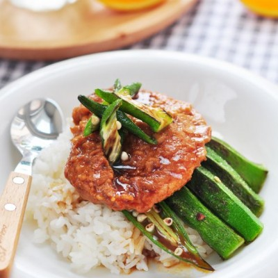 秋葵怎么做好吃--秋葵大排饭