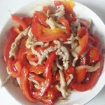 红辣椒炒肉丝