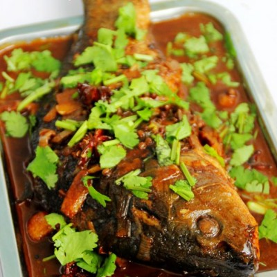 鲤鱼怎么做好吃--酱烧鲤鱼