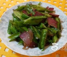腊肉炒四角豆