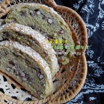 抹茶红豆面包
