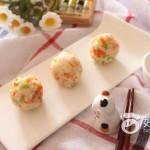 彩蔬虾仁饭团