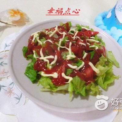 西红柿生菜沙拉