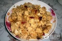 甜玉米粒烧豆腐