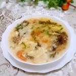西红柿紫菜疙瘩汤