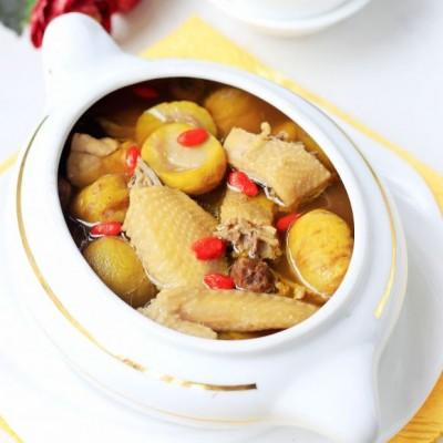 栗子桂圆炖土鸡