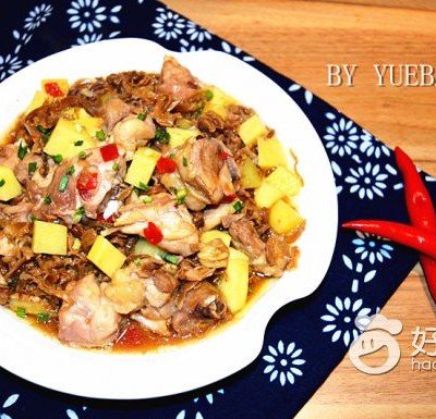 梅干菜蒸土豆鸡块