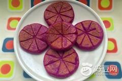 紫薯花生糯米饼