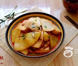 葱香土豆炒黄金豆腐