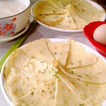 鸡蛋香葱莜面饼