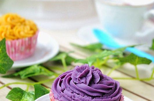 红薯纸杯裱花蛋糕