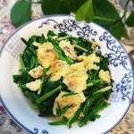 韭菜海米炒鹅蛋