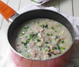 香菇肉末蔬菜粥
