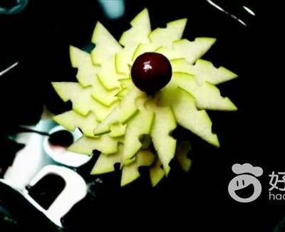 简单的苹果盘饰